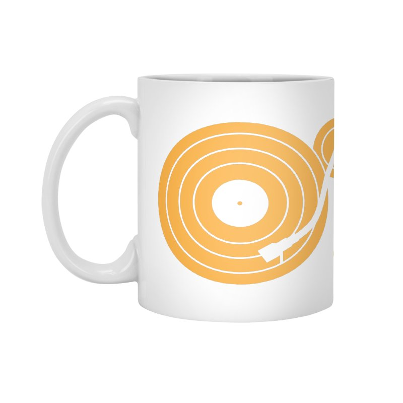 Turntable - Orange Accessories Mug by Mark LaPoint's Artist Shop