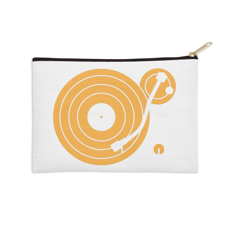Turntable - Orange Accessories Zip Pouch by Mark LaPoint's Artist Shop