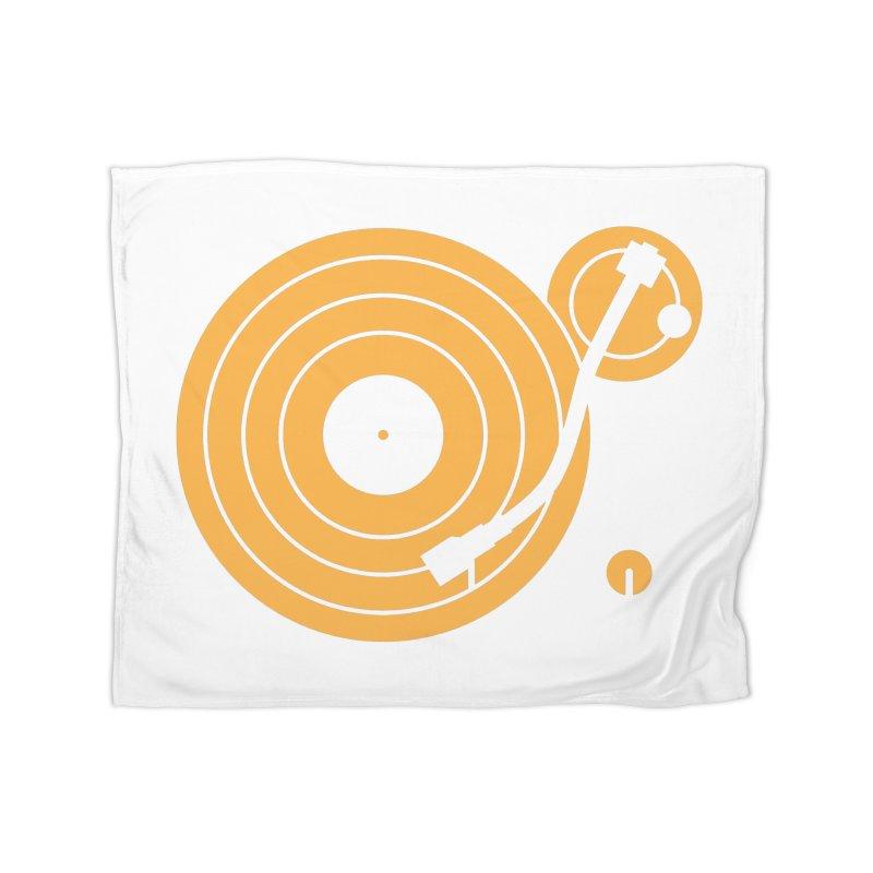 Turntable - Orange Home Blanket by Mark LaPoint's Artist Shop