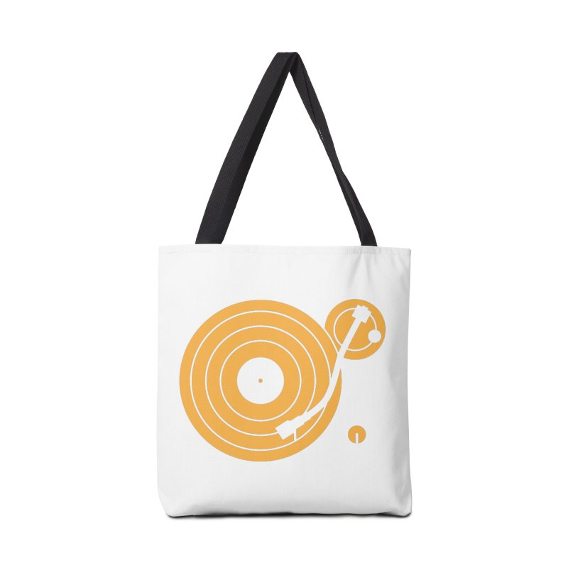 Turntable - Orange Accessories Bag by Mark LaPoint's Artist Shop