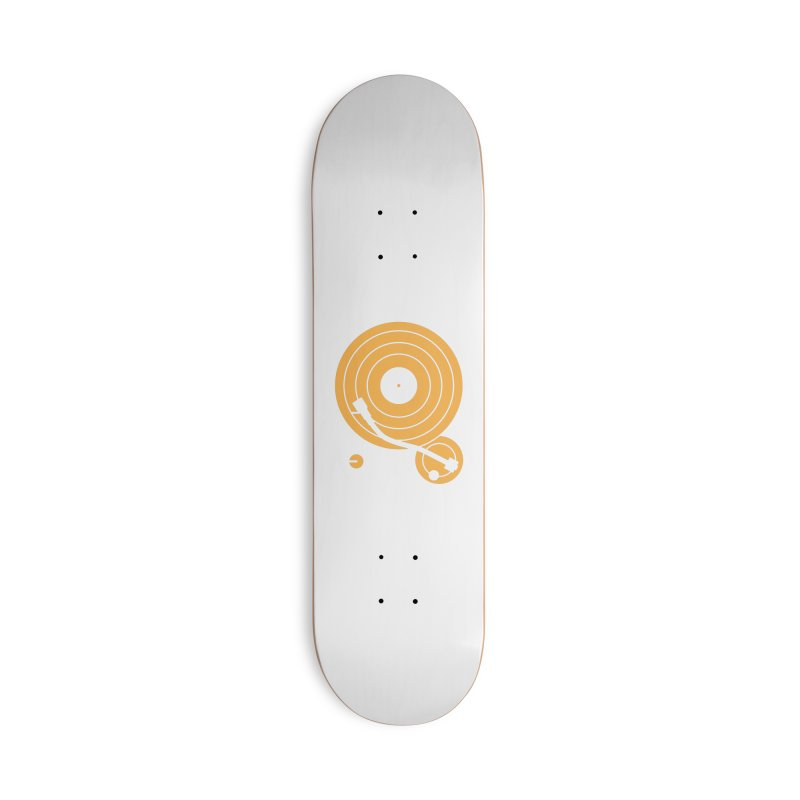 Turntable - Orange Accessories Skateboard by Mark LaPoint's Artist Shop