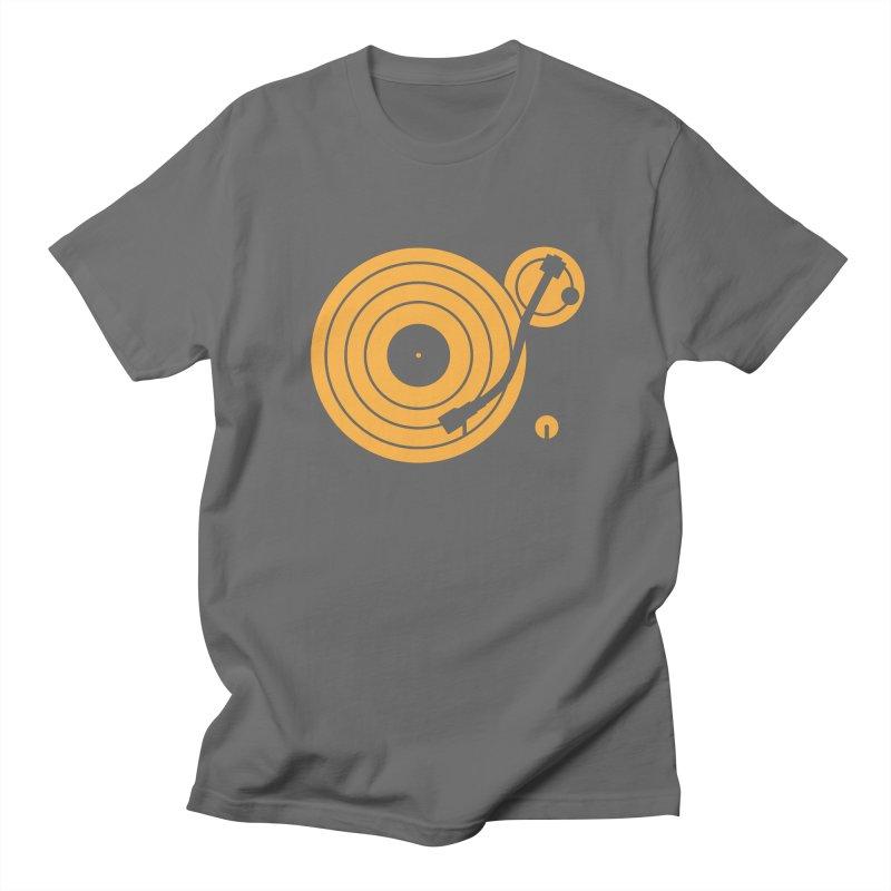 Turntable - Orange Men's T-Shirt by Mark LaPoint's Artist Shop