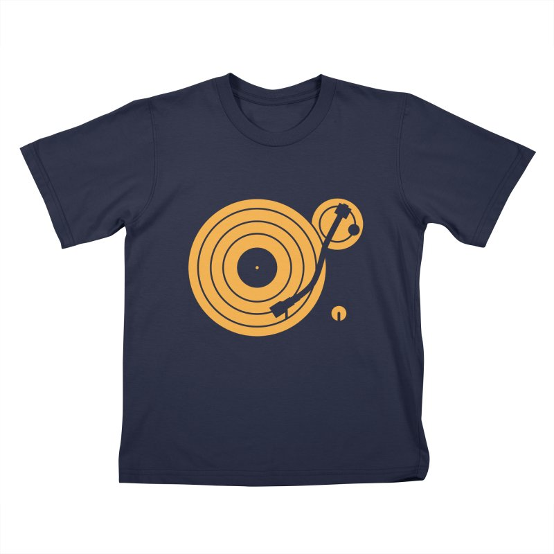 Turntable - Orange Kids T-Shirt by Mark LaPoint's Artist Shop