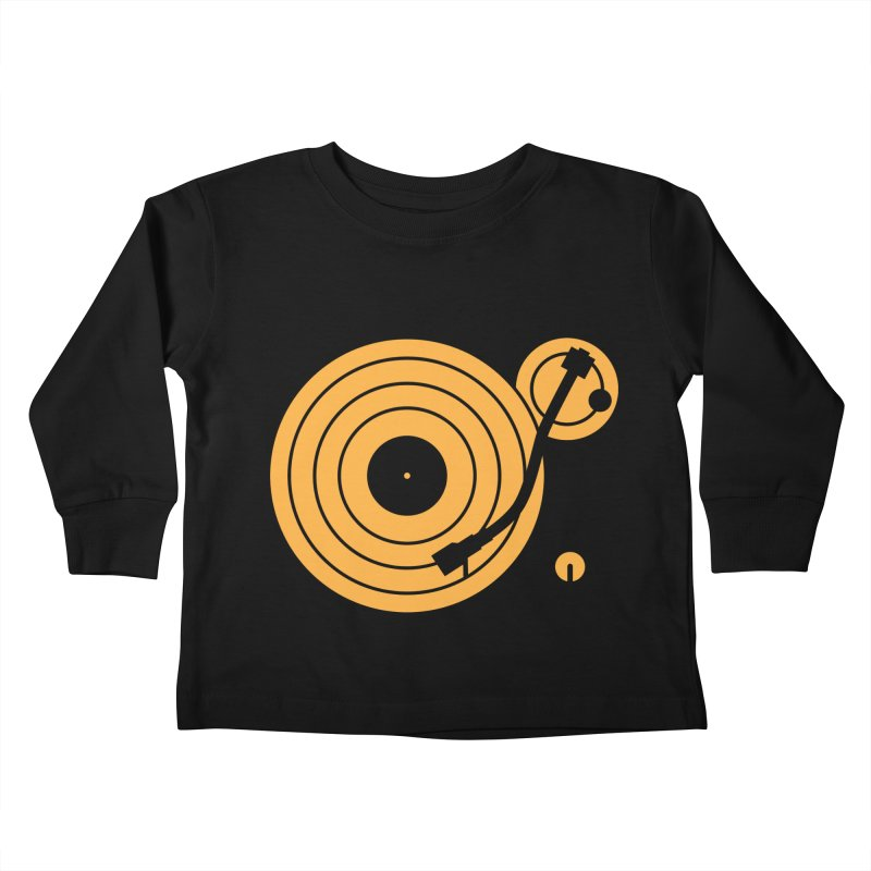 Turntable - Orange Kids Toddler Longsleeve T-Shirt by Mark LaPoint's Artist Shop