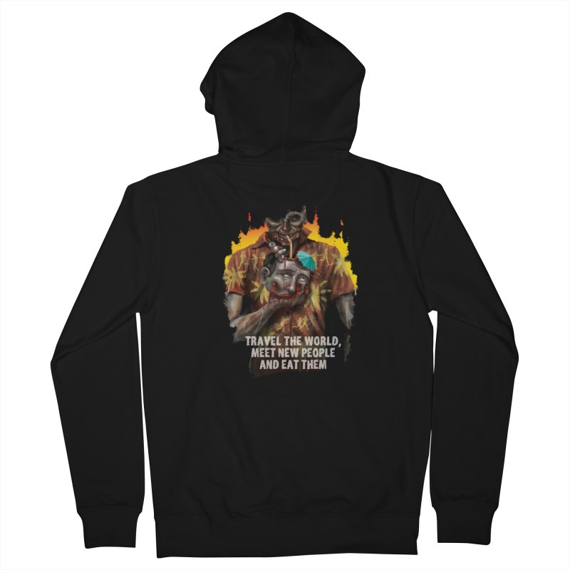 Zombie Vacation Men's Zip-Up Hoody by markpart2's Artist Shop
