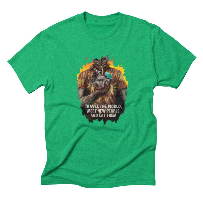 Zombie Vacation Men's Triblend T-Shirt by markpart2's Artist Shop
