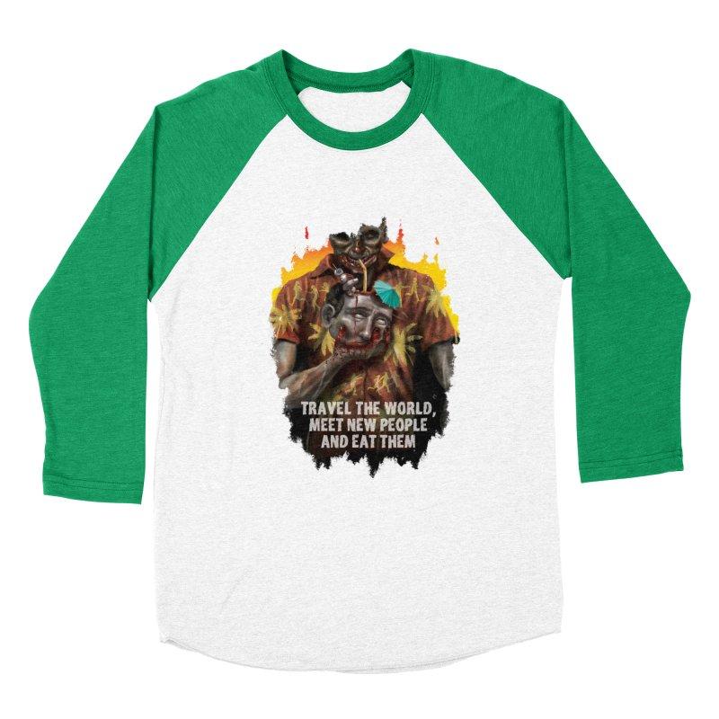 Zombie Vacation Women's Baseball Triblend T-Shirt by markpart2's Artist Shop