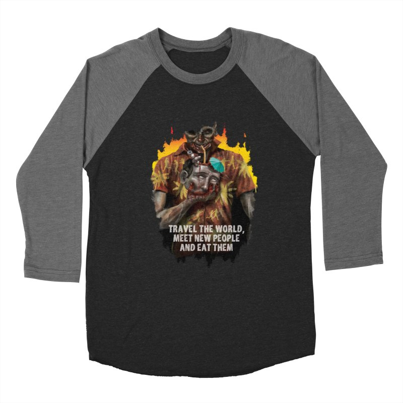 Zombie Vacation Men's Baseball Triblend T-Shirt by markpart2's Artist Shop