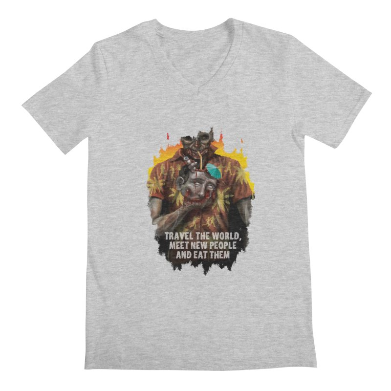 Zombie Vacation Men's V-Neck by markpart2's Artist Shop