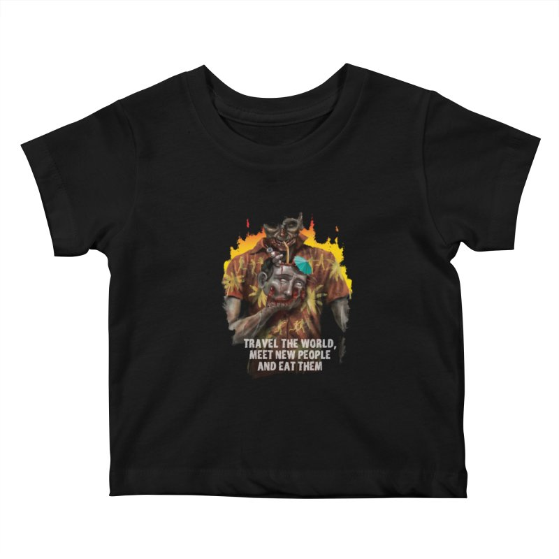 Zombie Vacation Kids Baby T-Shirt by markpart2's Artist Shop