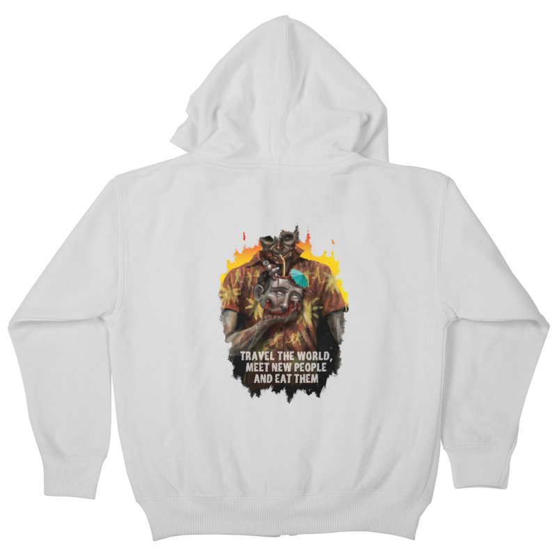 Zombie Vacation Kids Zip-Up Hoody by markpart2's Artist Shop