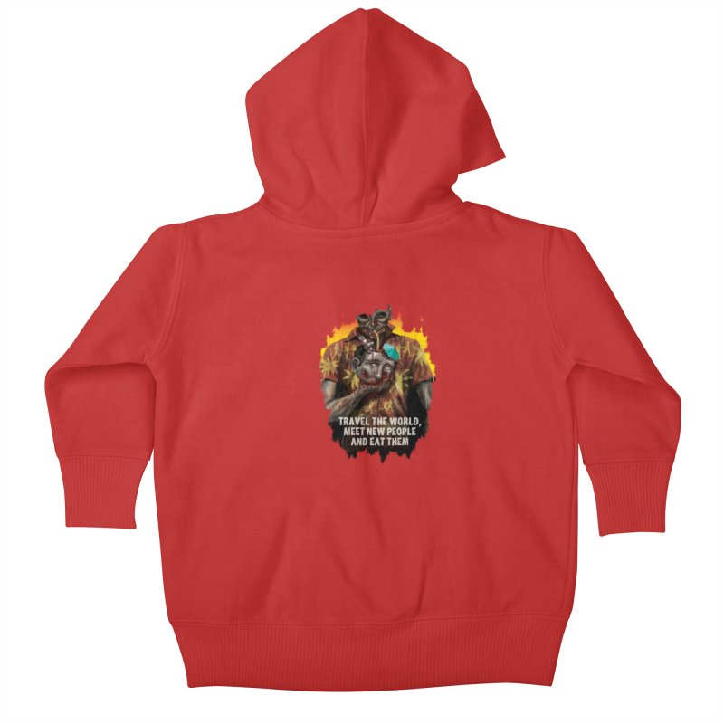 Zombie Vacation Kids Baby Zip-Up Hoody by markpart2's Artist Shop