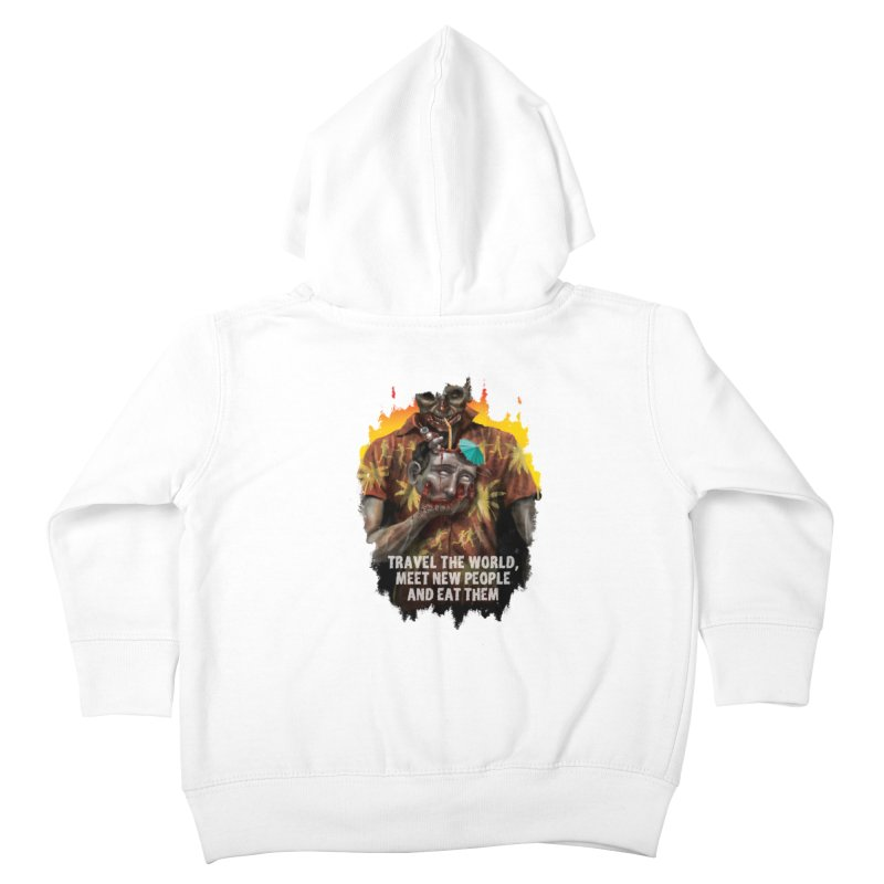 Zombie Vacation Kids Toddler Zip-Up Hoody by markpart2's Artist Shop