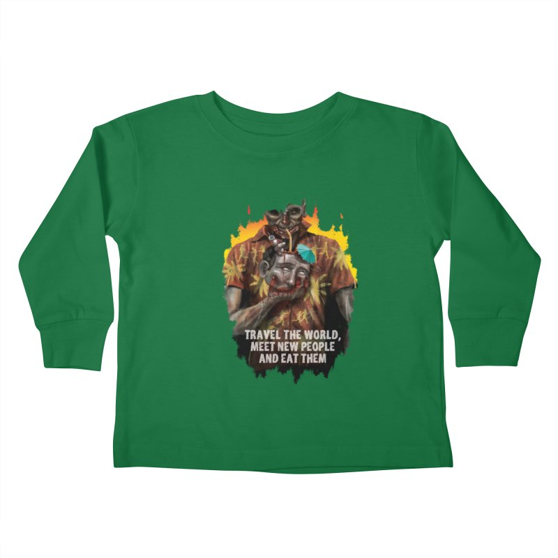 Zombie Vacation Kids Toddler Longsleeve T-Shirt by markpart2's Artist Shop