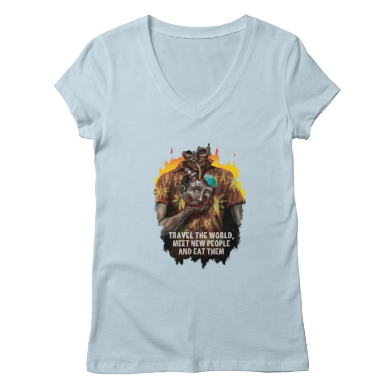 Zombie Vacation Women's V-Neck by markpart2's Artist Shop