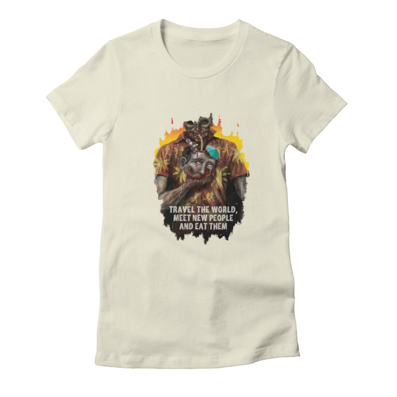 Zombie Vacation Women's Fitted T-Shirt by markpart2's Artist Shop