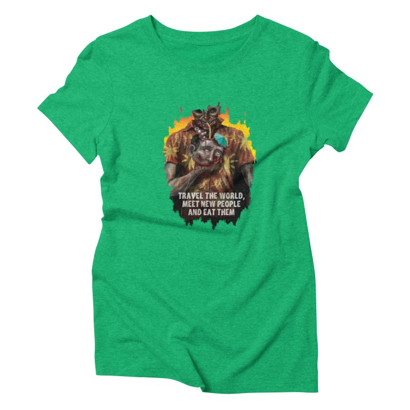 Zombie Vacation Women's Triblend T-Shirt by markpart2's Artist Shop