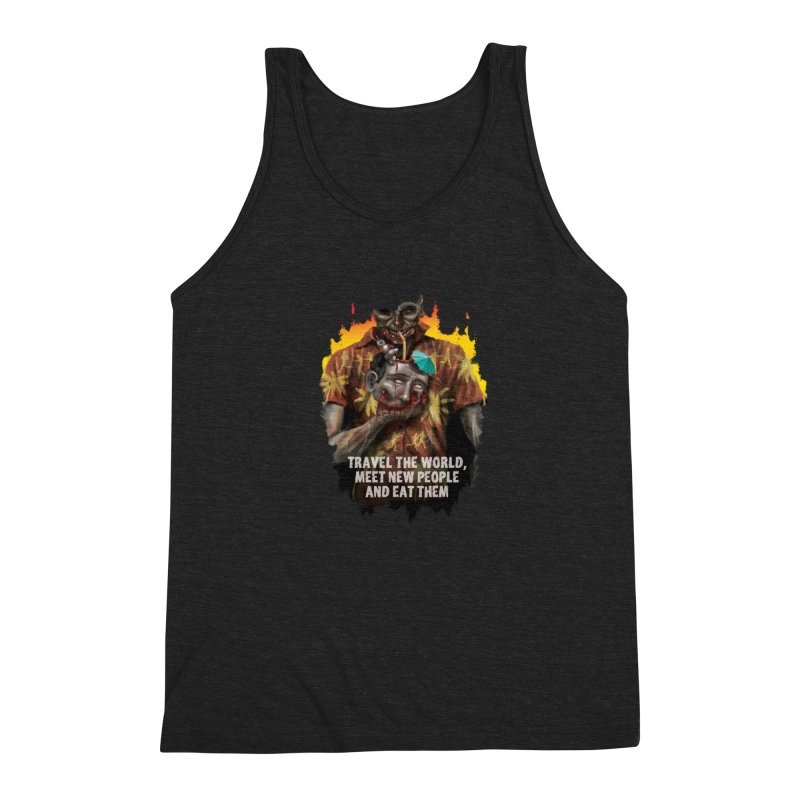 Zombie Vacation Men's Triblend Tank by markpart2's Artist Shop
