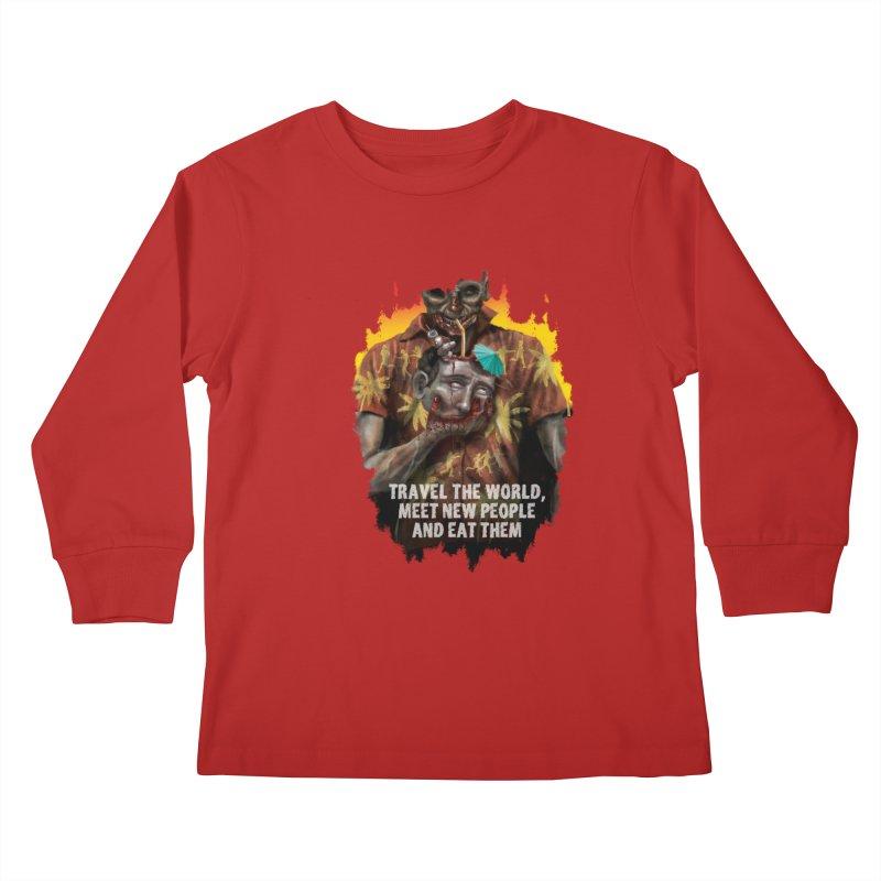 Zombie Vacation Kids Longsleeve T-Shirt by markpart2's Artist Shop