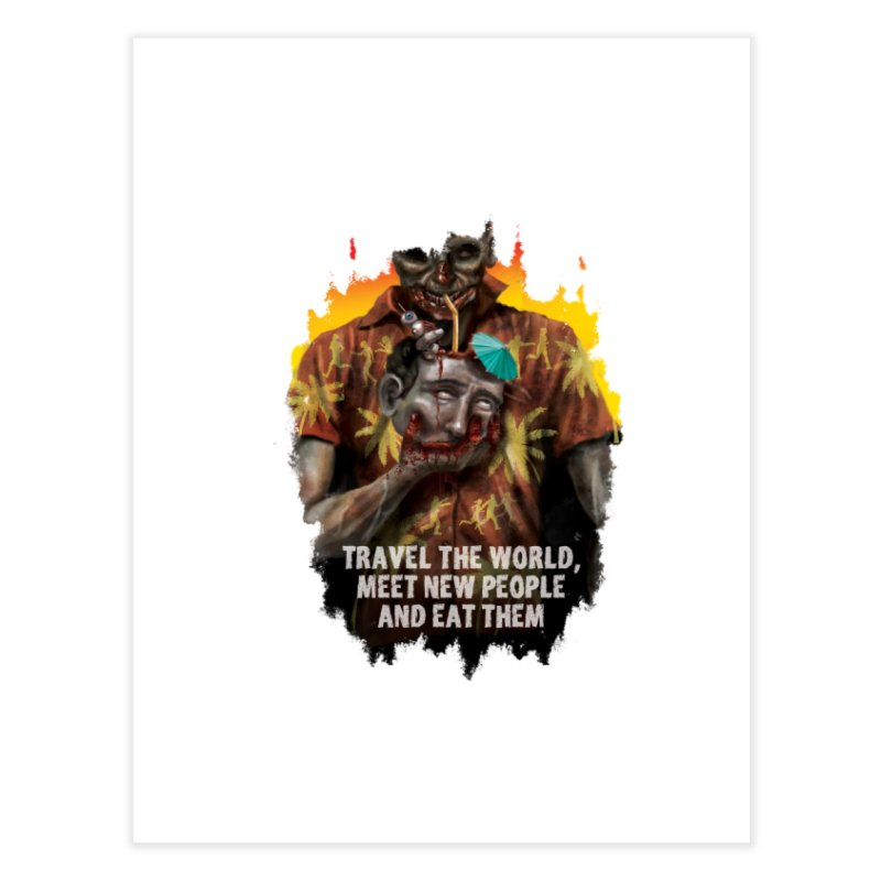 Zombie Vacation Home Fine Art Print by markpart2's Artist Shop