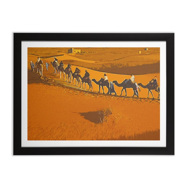 Desert Safari Home Framed Fine Art Print by markurz's Artist Shop