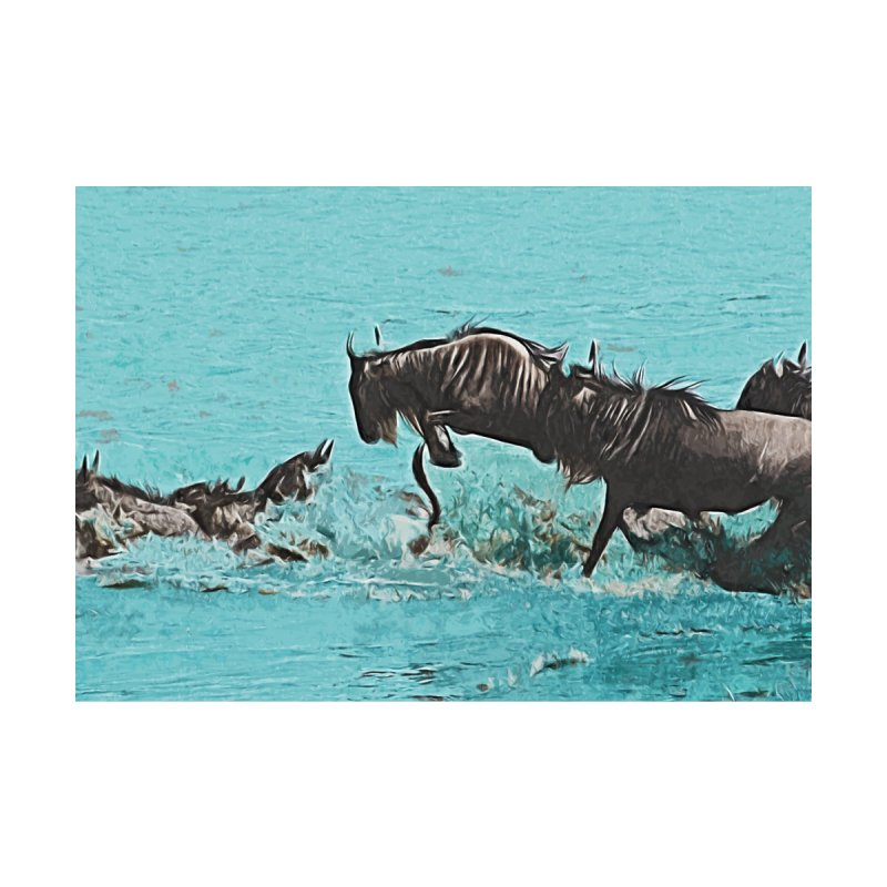 Wildebeest Crossing None  by markurz's Artist Shop