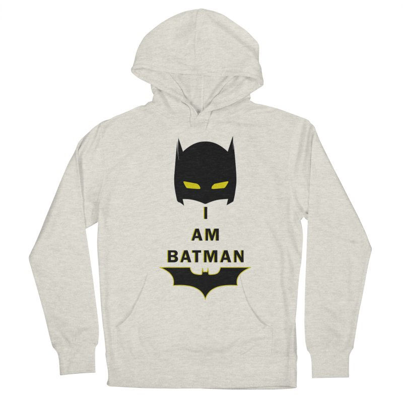 I am Batman Men's French Terry Pullover Hoody by markurz's Artist Shop