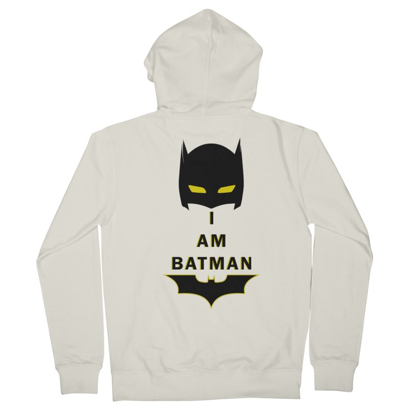 I am Batman Men's French Terry Zip-Up Hoody by markurz's Artist Shop
