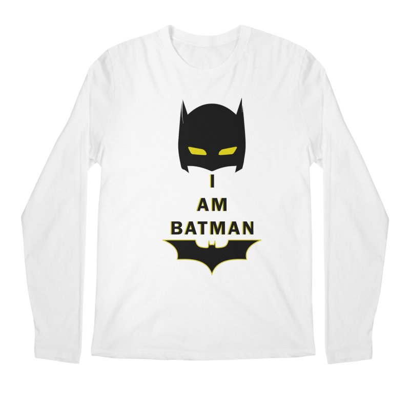 I am Batman Men's Longsleeve T-Shirt by markurz's Artist Shop