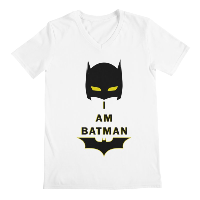 I am Batman Men's V-Neck by markurz's Artist Shop