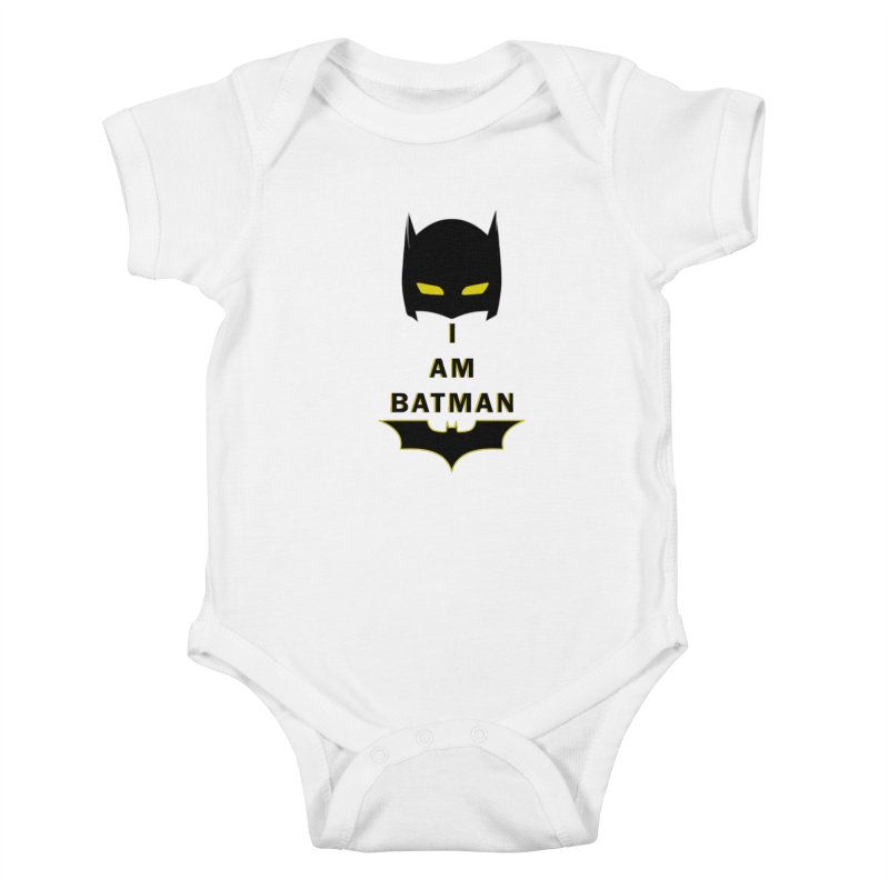 I am Batman Kids Baby Bodysuit by markurz's Artist Shop