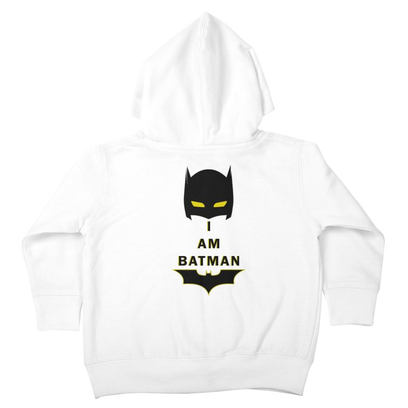 I am Batman Kids Toddler Zip-Up Hoody by markurz's Artist Shop