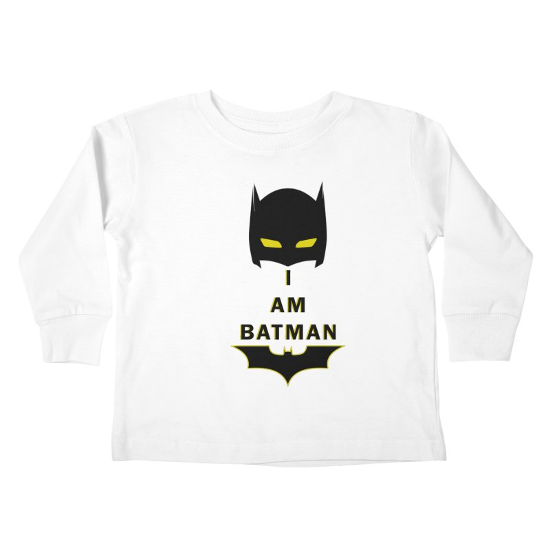 I am Batman Kids Toddler Longsleeve T-Shirt by markurz's Artist Shop