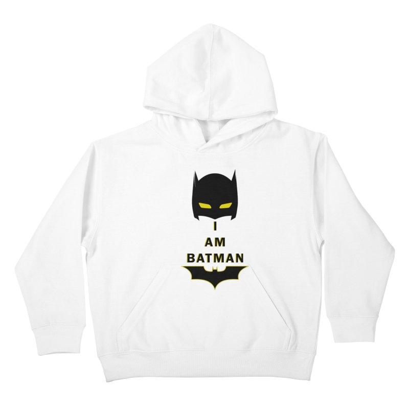 I am Batman Kids Pullover Hoody by markurz's Artist Shop