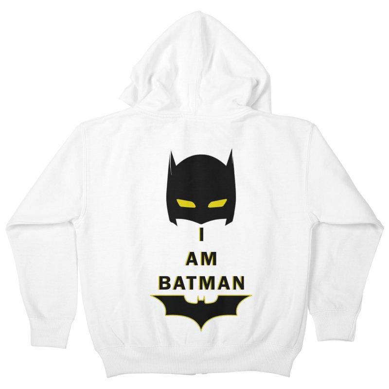 I am Batman Kids Zip-Up Hoody by markurz's Artist Shop