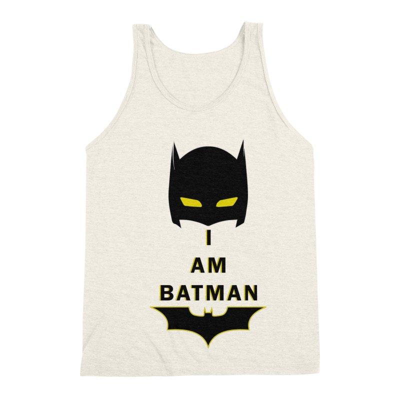 I am Batman Men's Triblend Tank by markurz's Artist Shop