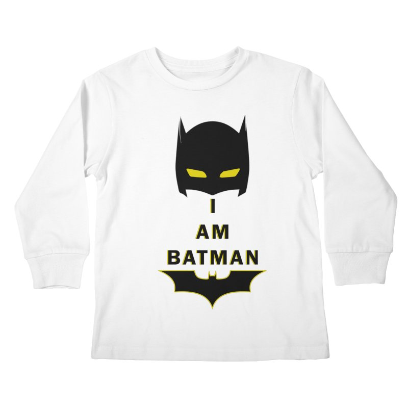 I am Batman Kids Longsleeve T-Shirt by markurz's Artist Shop