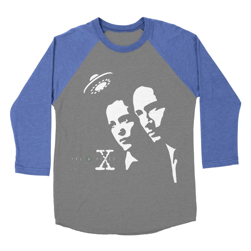 They're Out There Women's Baseball Triblend Longsleeve T-Shirt by markurz's Artist Shop