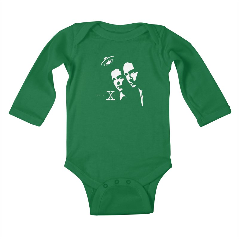They're Out There Kids Baby Longsleeve Bodysuit by markurz's Artist Shop