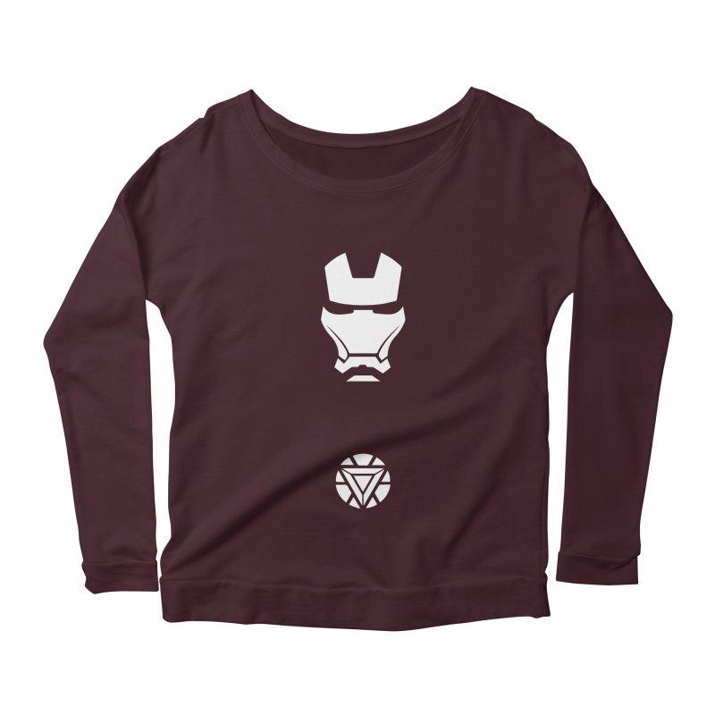 Iron Man Women's Scoop Neck Longsleeve T-Shirt by markurz's Artist Shop