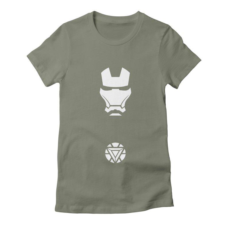 Iron Man Women's Fitted T-Shirt by markurz's Artist Shop