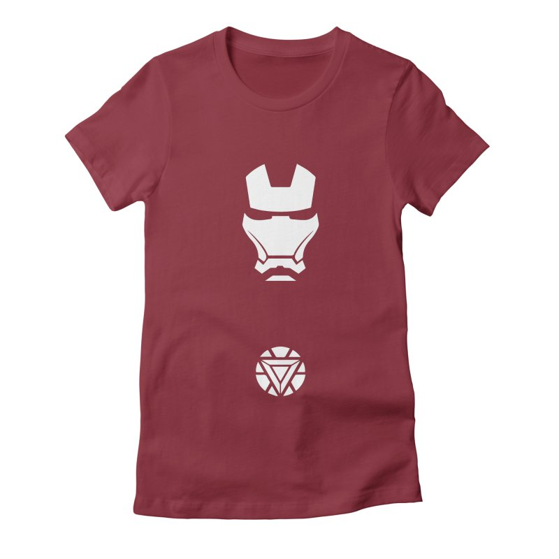 Iron Man Women's Fitted T-Shirt by markurz's Artist Shop