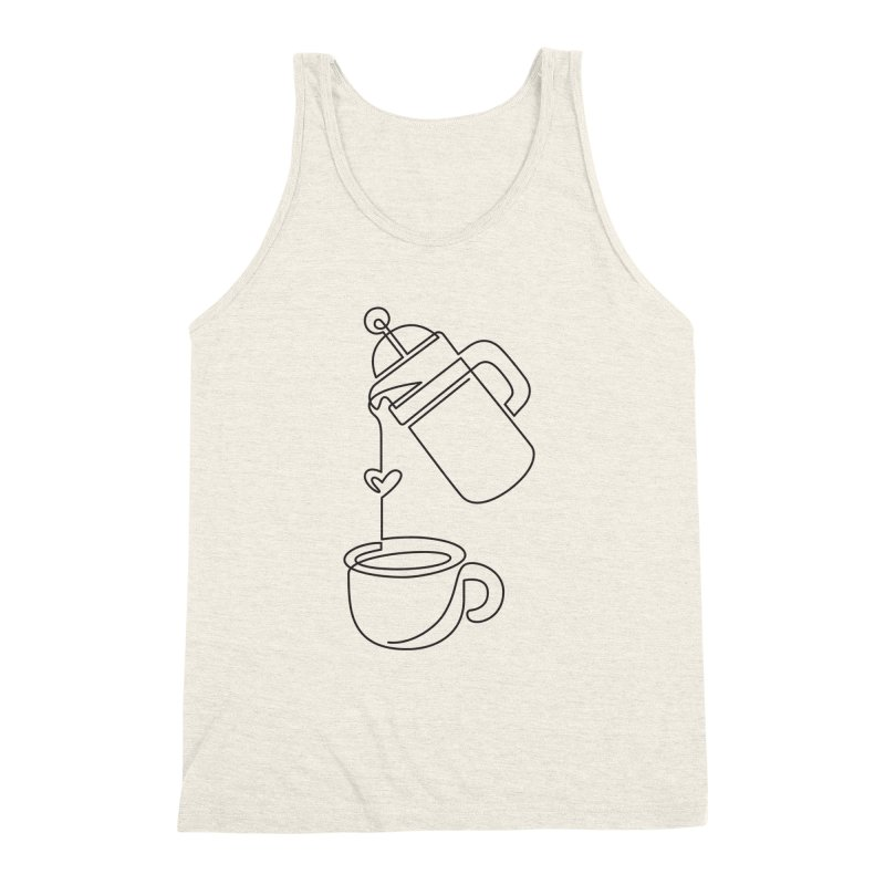 French Press Fever (black) Men's Triblend Tank by marlamakesstuff's Artist Shop