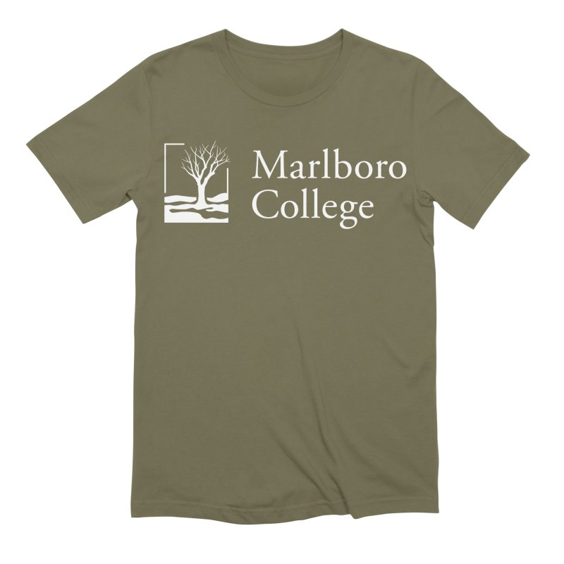 T-Shirt with White Logo Men's Extra Soft T-Shirt by Marlboro Store's Artist Shop