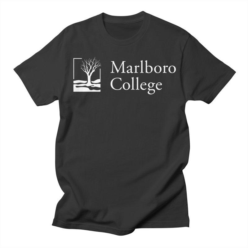 T-Shirt with White Logo Men's Regular T-Shirt by Marlboro Store's Artist Shop