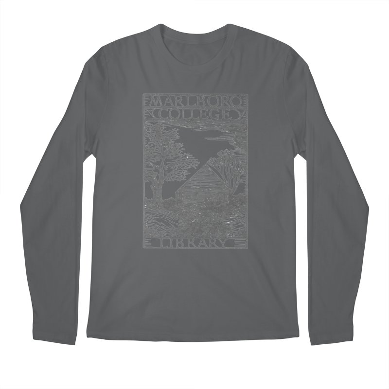 Unisex T-shirt with the Library Woodcut Men's Longsleeve T-Shirt by Marlboro Store's Artist Shop