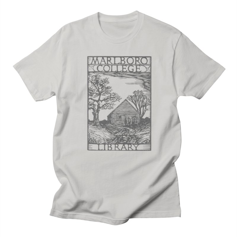 Unisex T-shirt with the Library Woodcut Men's Regular T-Shirt by Marlboro Store's Artist Shop