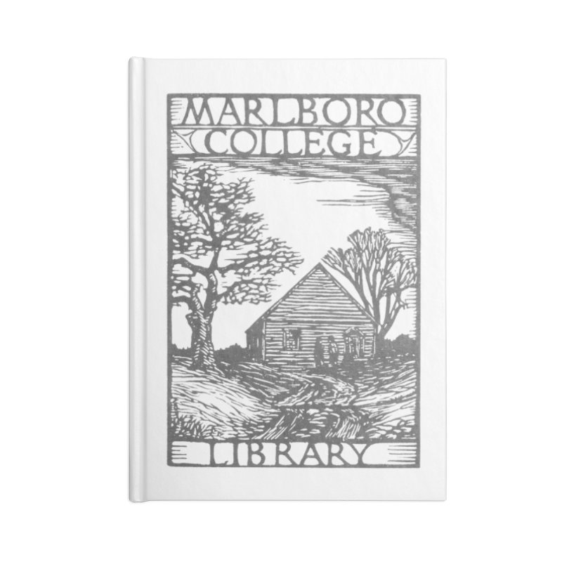 Library Woodcut Notebook Accessories Blank Journal Notebook by Marlboro Store's Artist Shop