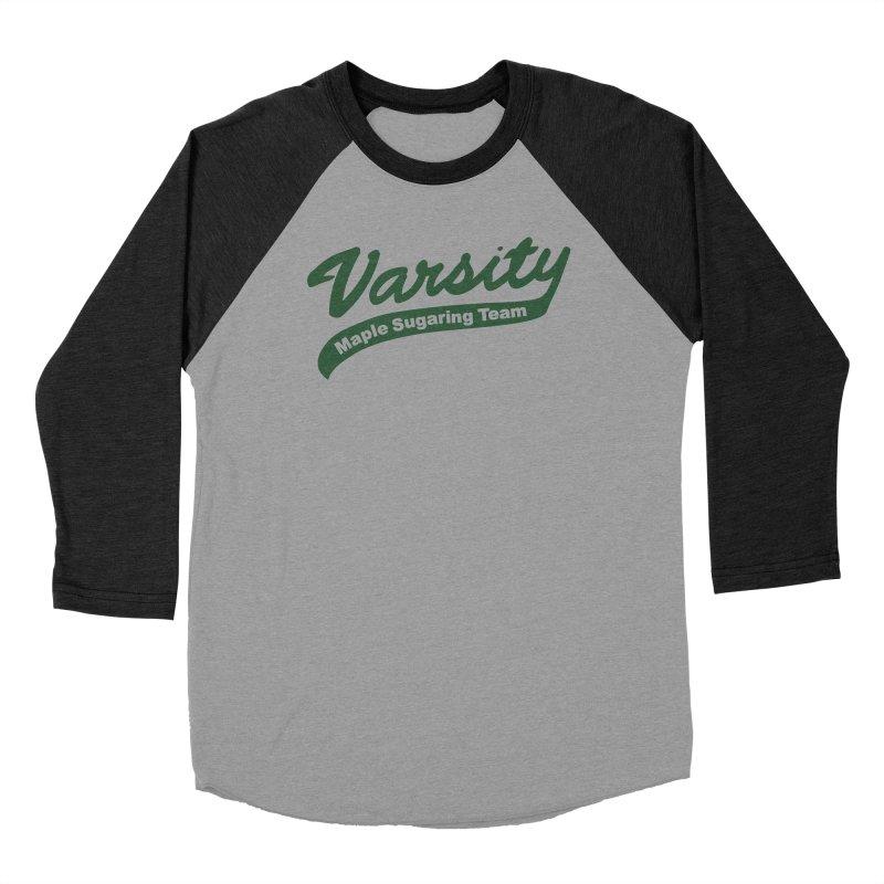 Varsity Maple Sugaring Team Jersey Men's Baseball Triblend Longsleeve T-Shirt by Marlboro Store's Artist Shop