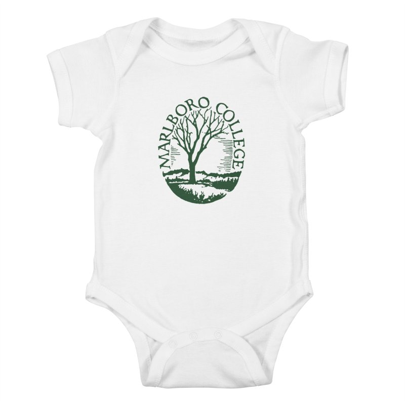 White Onesie with the Seal in Kids Baby Bodysuit White by Marlboro Store's Artist Shop